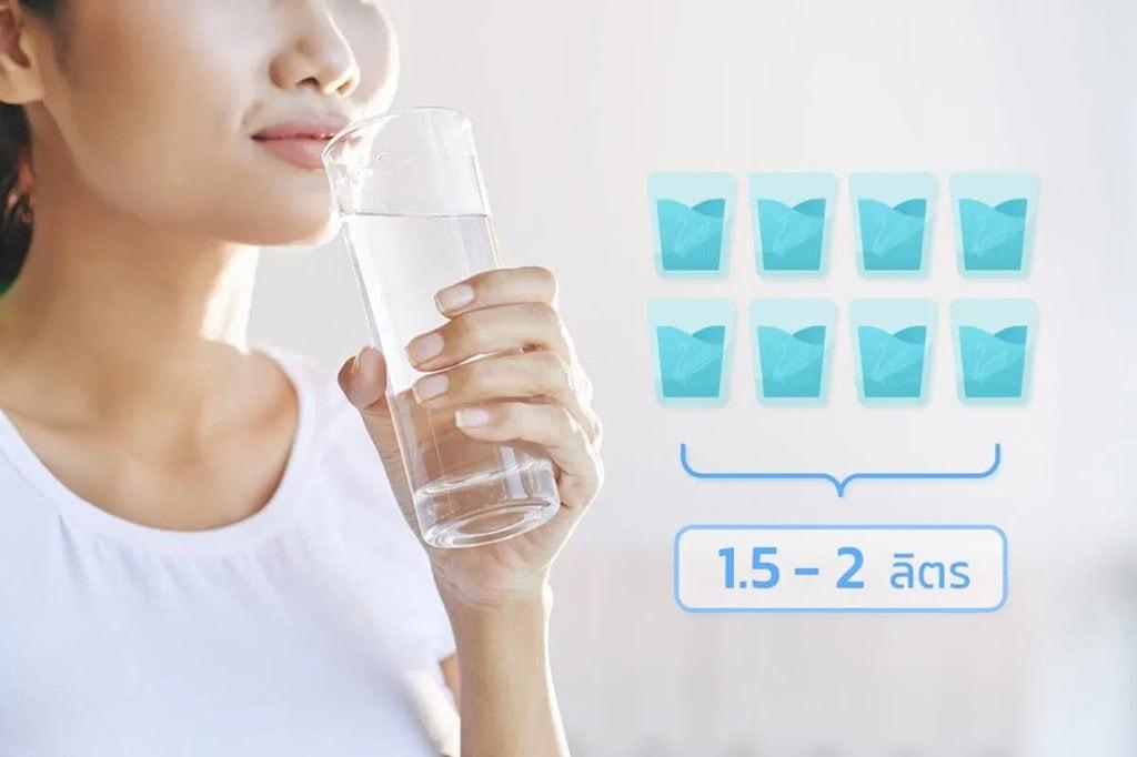 ภาพคนดื่มน้ำ