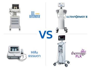 Ulthera-vs-Hifu macrofocus vs Hifu ธรรมดา vs Thermage flx