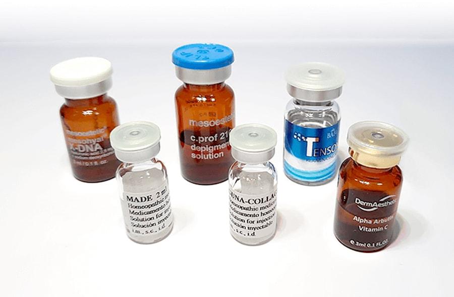 ตัวอย่างตัวยาเมโสหน้าใสของแท้